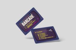Tarjeta corporativa diseñada para Barcade Bilbao - Sukalmedia