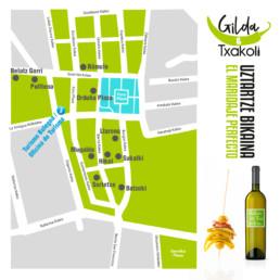 Gilda & Txakoli - diseño gráfico - plano - Sukalmedia