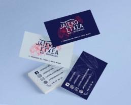 Jateko Etxea Restaurante - diseño gráfico - diseño tarjetas - branding - Sukalmedia